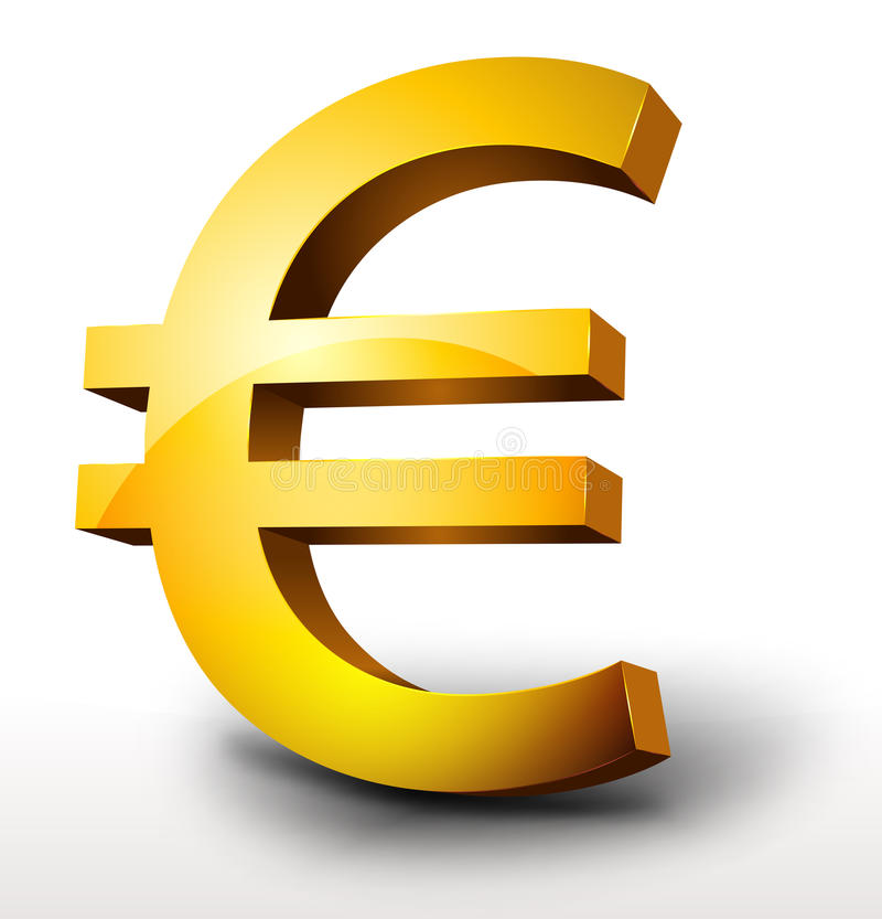 Download Gold Euro Currency stock vector. Illustration of growth - 26891410