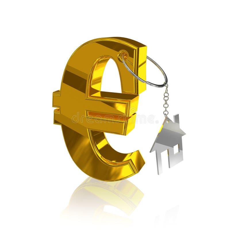 Gold_euro_home vector illustratie
