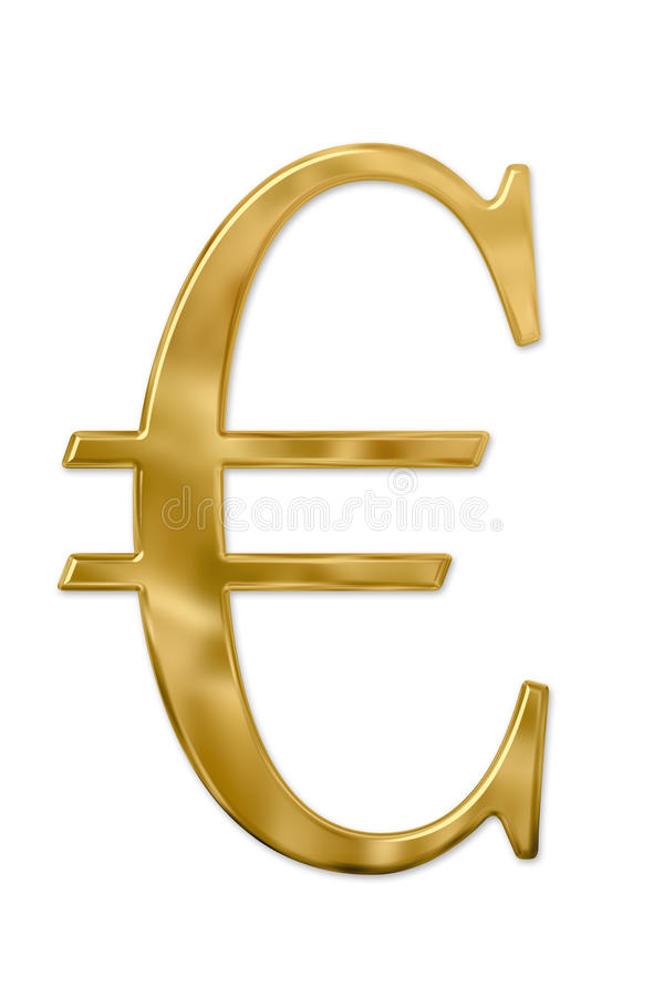 Download Gold Euro Sign stock illustration. Image of plated, market - 11562298