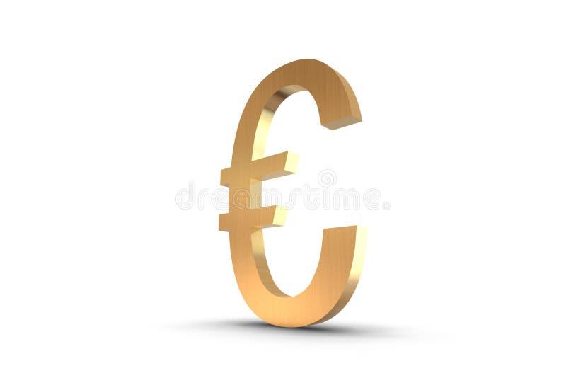 Gold Euro Symbol stock illustration