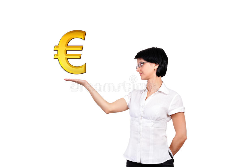 Download Gold euro symbol stock image. Image of gold, occupation - 27150491