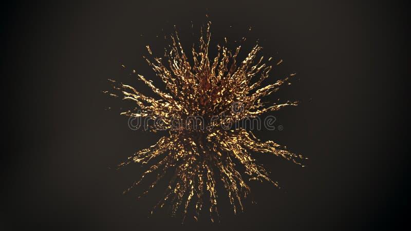 Gold explosion splash stock images
