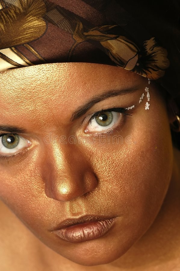 Download Gold face stock image. Image of feeling, watching, looking - 175719