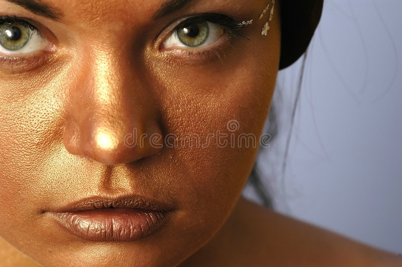Download Gold face 9103 stock photo. Image of watching, closeup - 175720