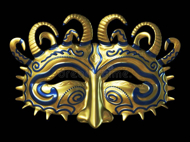 Gold Fantasy Masque stock illustration