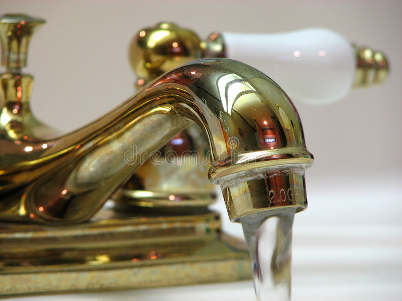 Download Gold Faucet Stock Photo - Image: 1801300