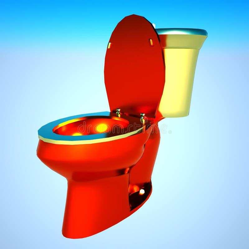 Gold ffush toilet stock photo