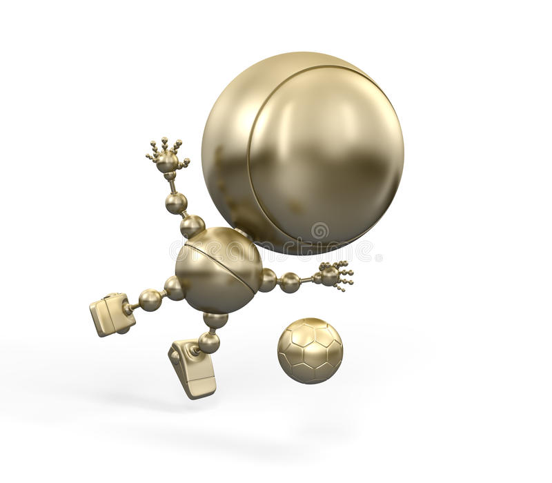 Download Gold Figurine Of Fotball Player Stock Illustration - Image: 13236541