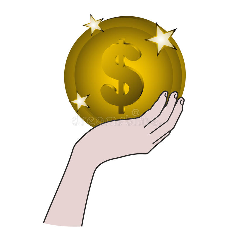 Download Gold finance stock vector. Image of icon, forefinger - 21588130