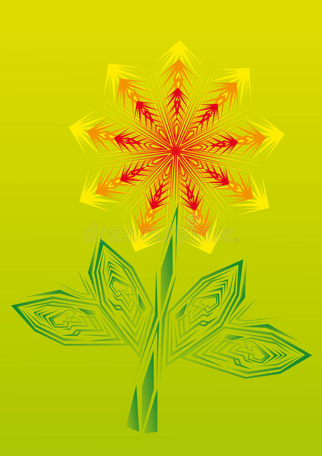 Gold Fire Flower On Isolated Background. Stock Image ...