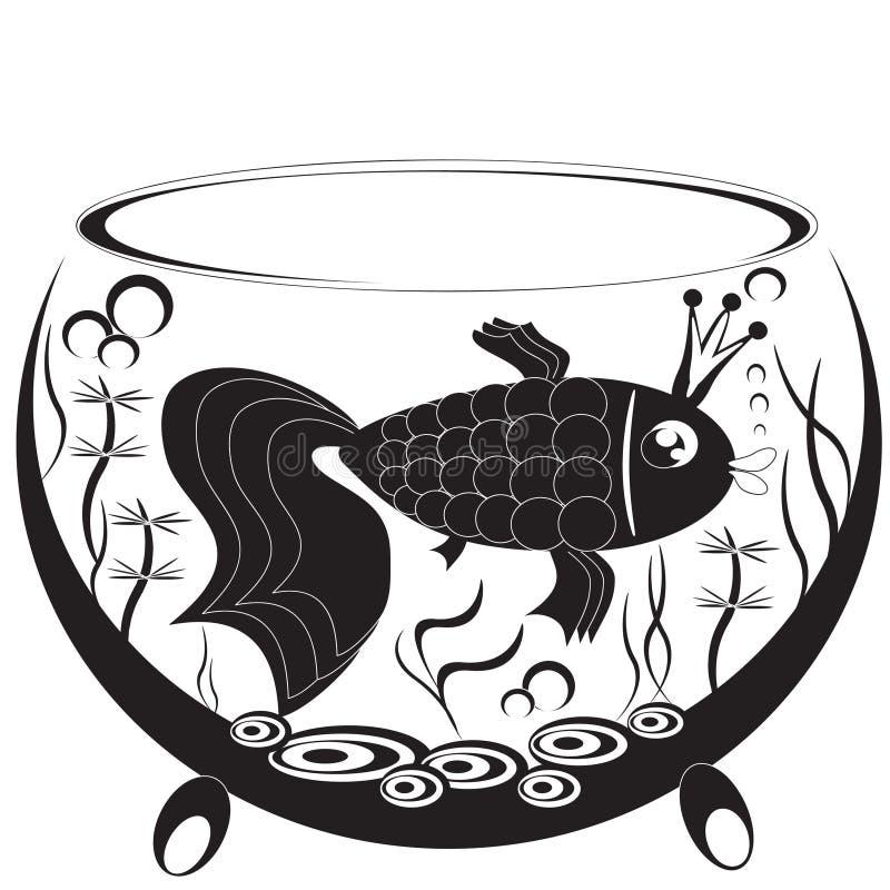 Gold fish,graphic. stock illustration
