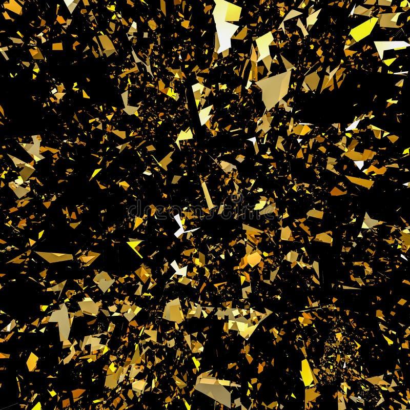 Gold flake glitter background vector illustration