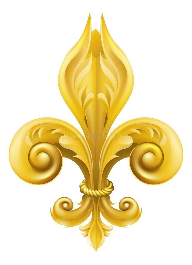 Free Gold Fleur-de-lis Design Stock Images - 25610404