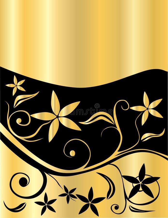 Gold floral vector illustration