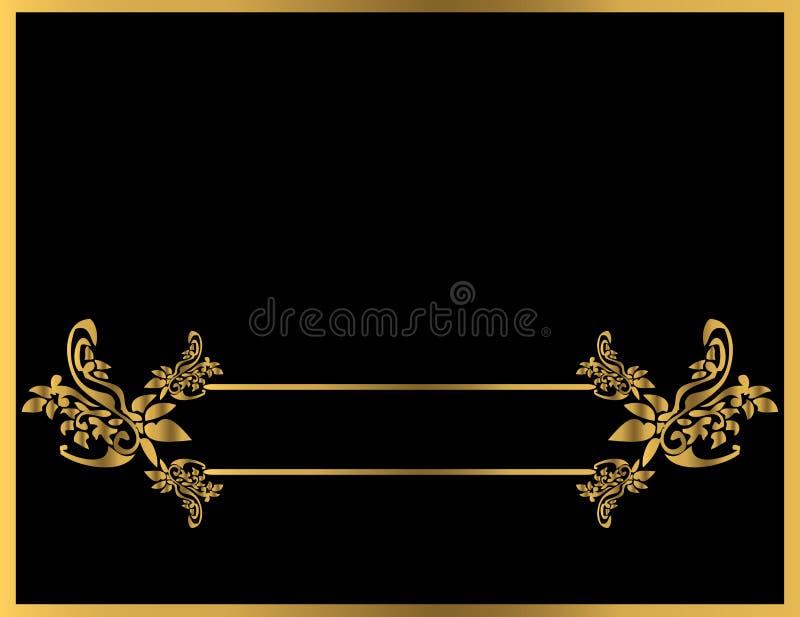 Gold floral frame 5 vector illustration