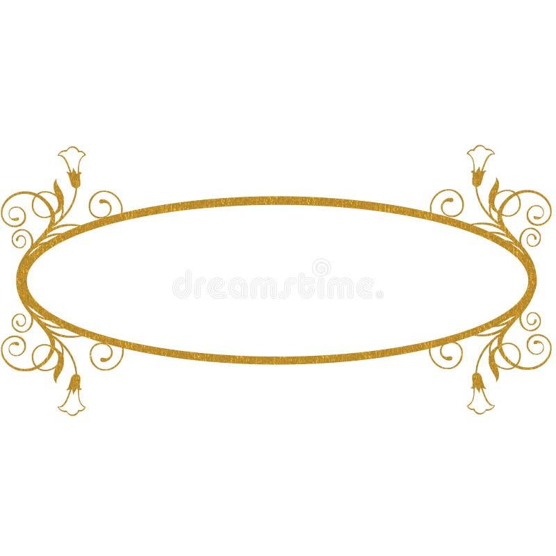 Download GOLD FLORAL FRAME OVAL Stock Illustration - Image: 83714837
