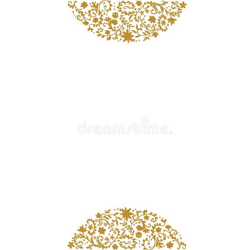 Gold floral pattern background royalty free illustration