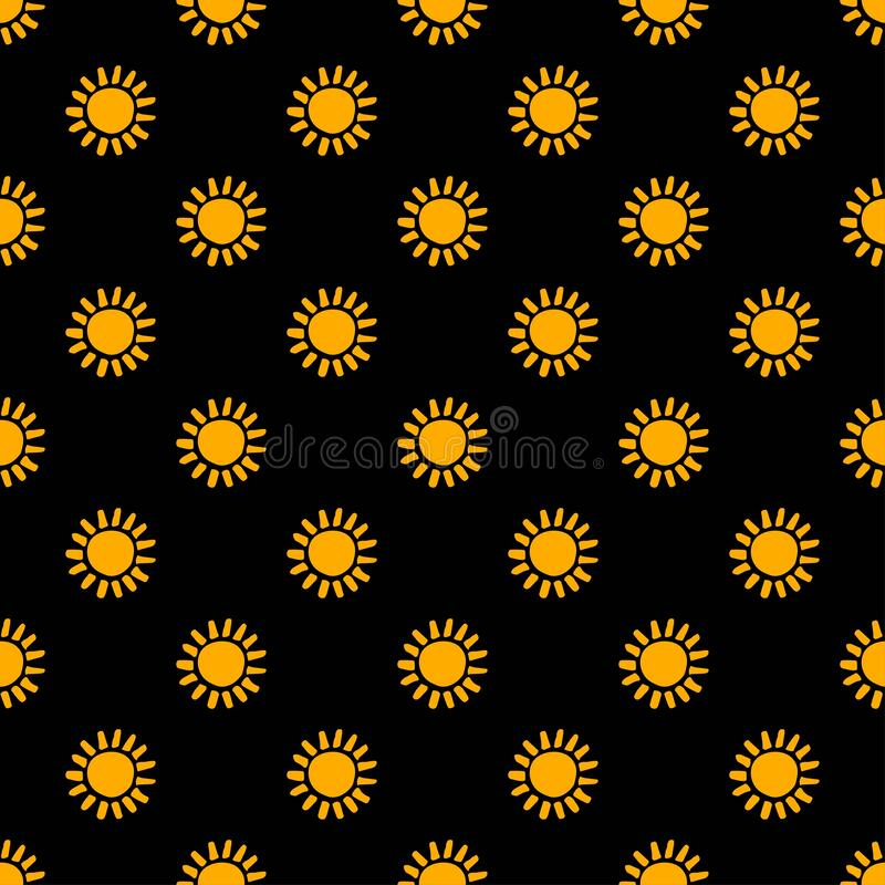 Flower Pattern On Black Background Seamless Floral Design Black Yellow Aesthetic Great For Fabric Scrapbooking And Stock Vector Illustration Of Folk Pattern 173315509