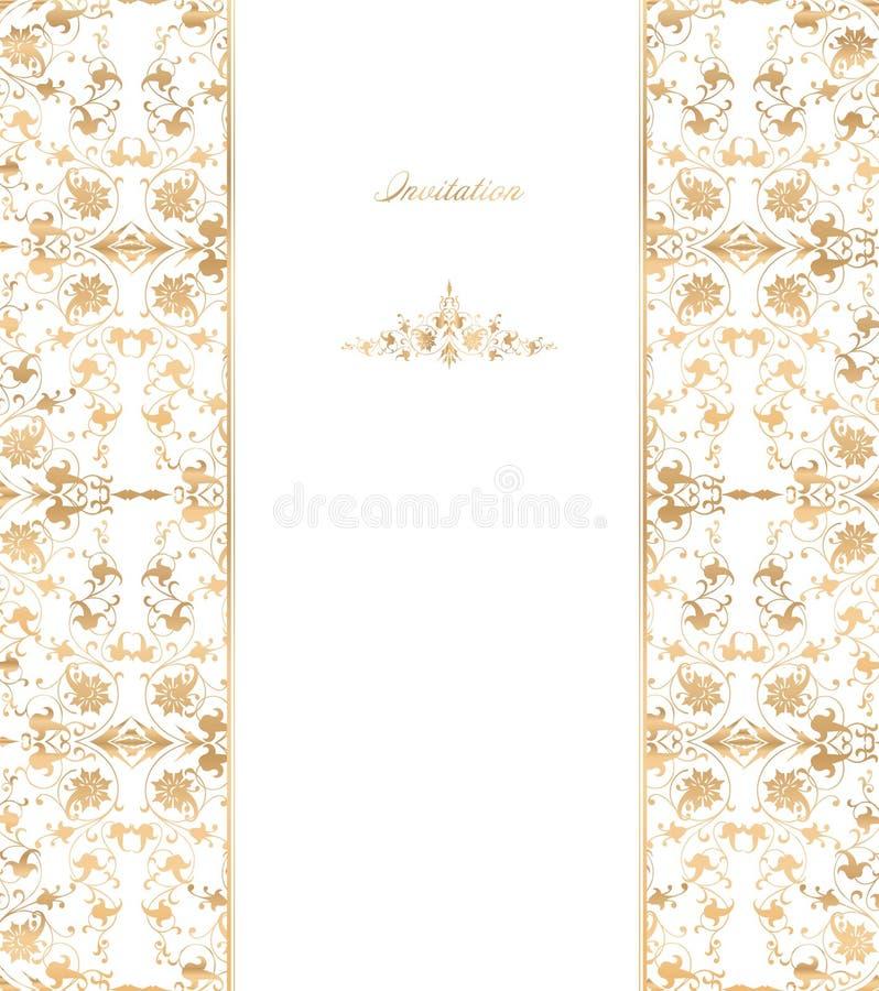 Black Flower On White Background Royalty Free Stock: Gold Floral On White Background. Vector Royalty Free Stock