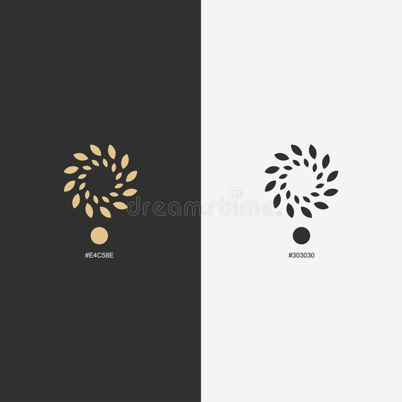 Gold flower logo design,vector,illustration ready to use. For your company vector illustration