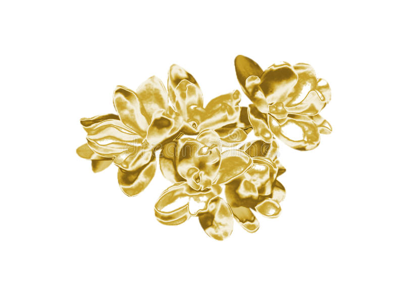 Gold flowers. Beautiful Gold flowers, close-up stock image