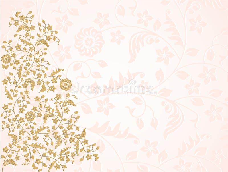 Gold flowers stock vector illustration of illustration 41376052 pink and gold floral vector background mightylinksfo