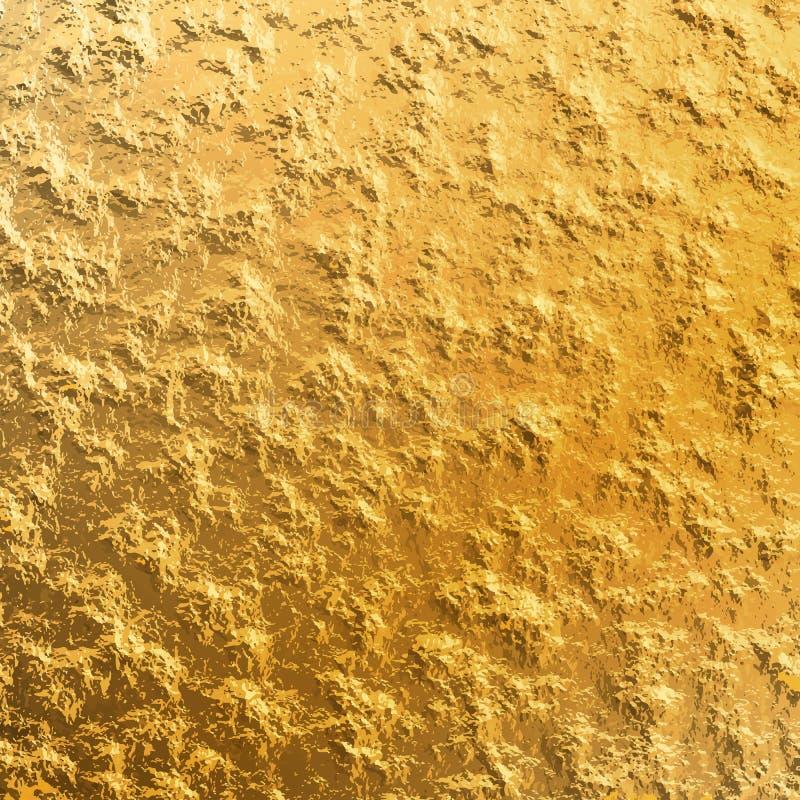 Gold foil background vector illustration