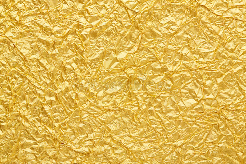 Gold foil background royalty free stock image