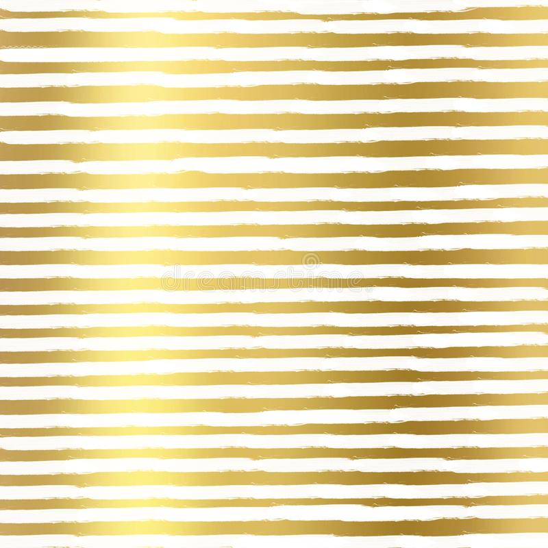Gold foil lines on white background, Gold texture. Gold foil lines pattern. Gold foil lines geometric Wallpaper stock illustration