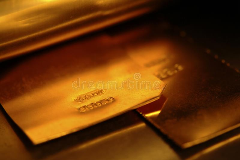 Gold foil, for crafts and for investment, stock photography