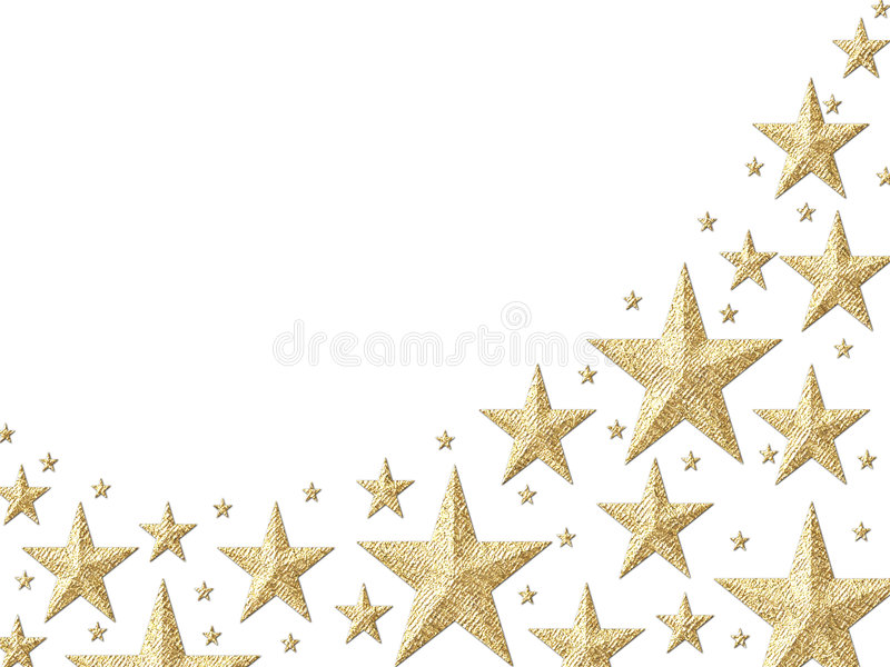 Gold foil starry wallpaper stock illustration