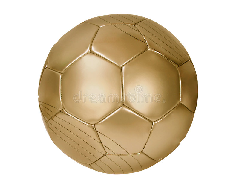 Gold football stock photography