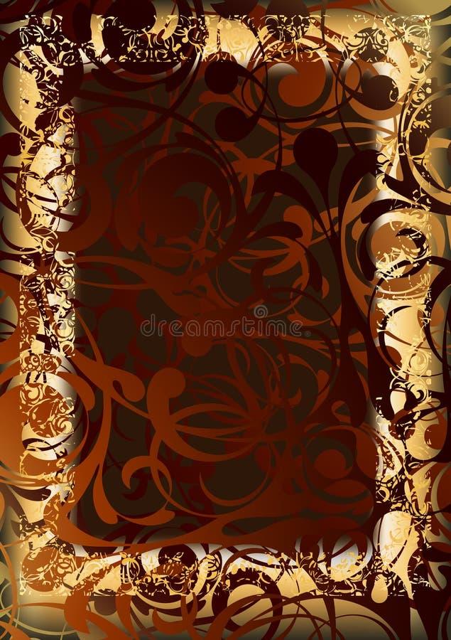 Gold frame royalty free illustration