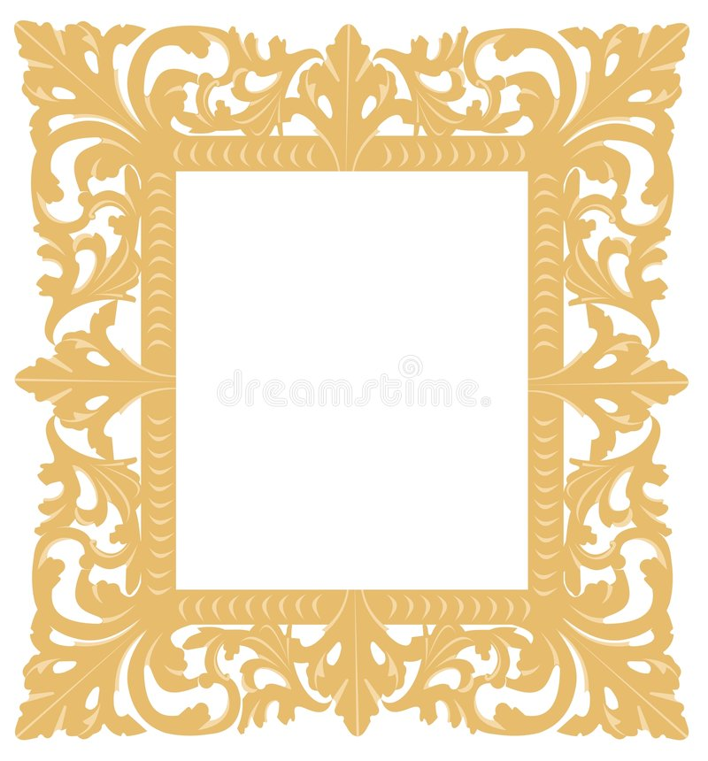 Gold frame vector illustration