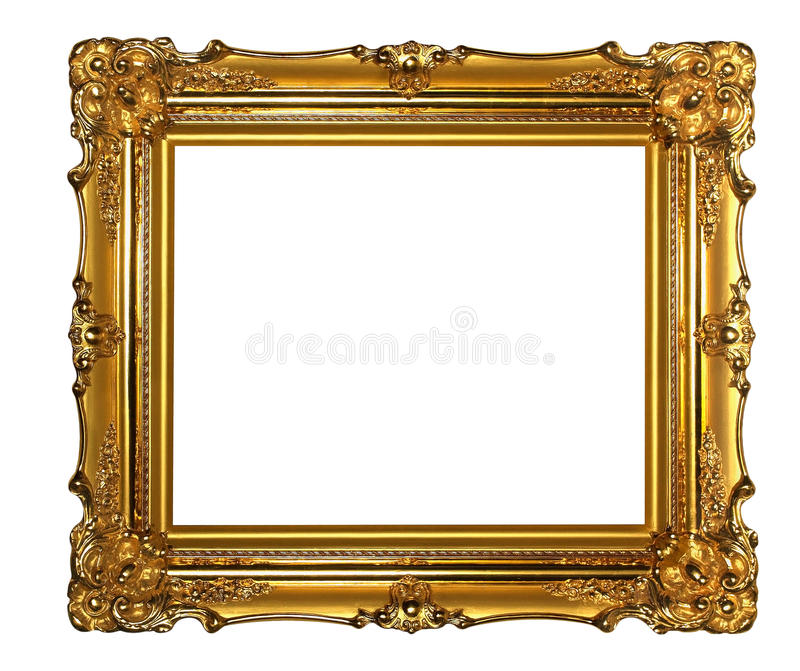 Download Gold frame stock photo. Image of exhibition, gold, border - 17622468