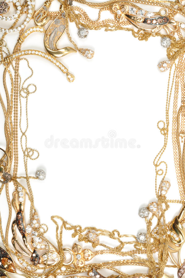 Download Gold frame stock photo. Image of brilliant, necklace - 17807920