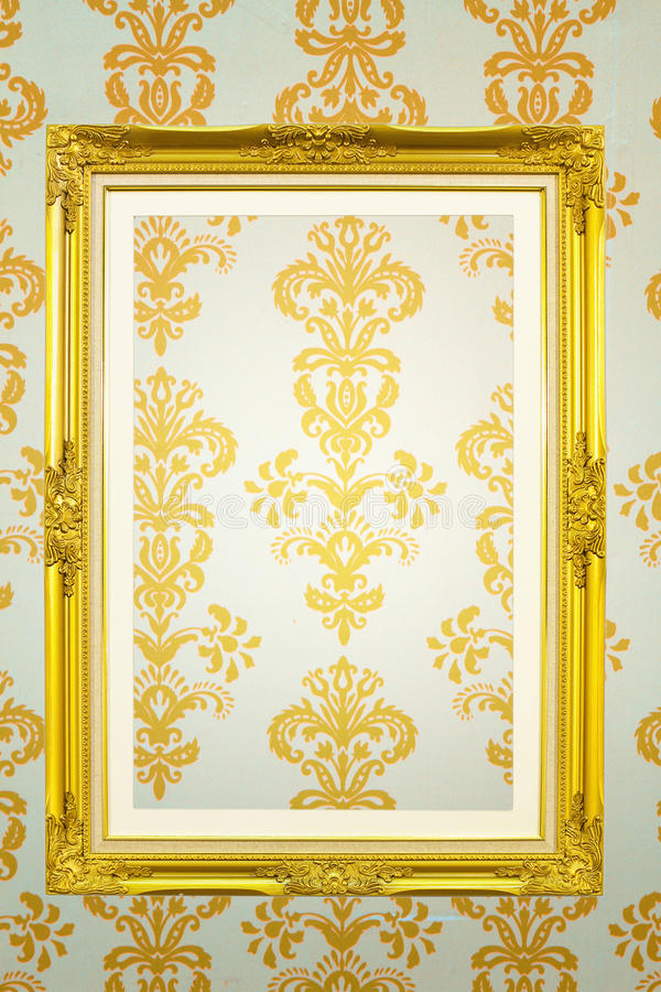 Gold frame royalty free stock image