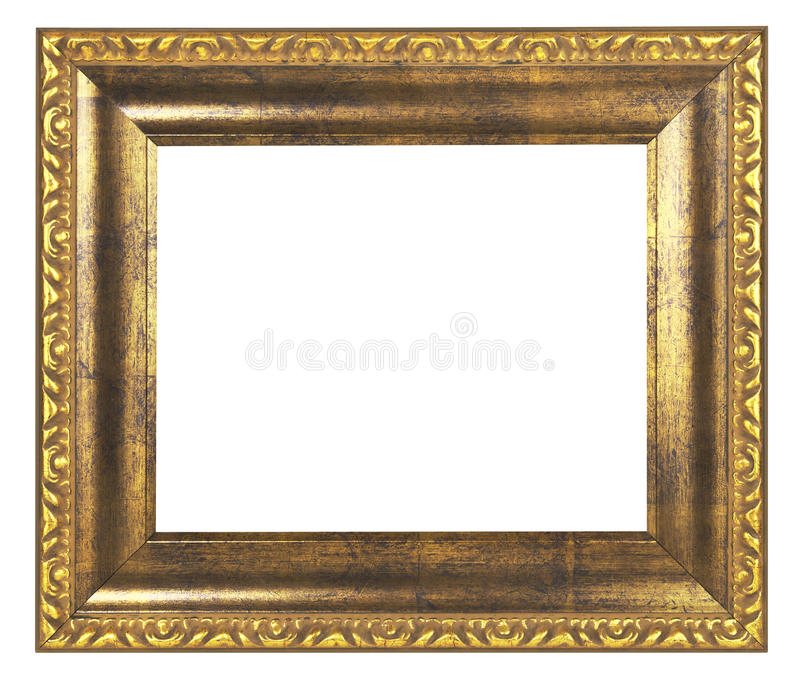 Gold Frame Stock Image