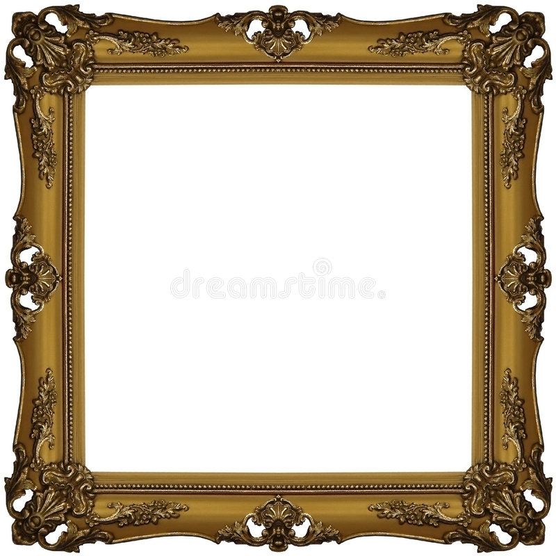 Gold frame 3. The old gold wooden frame stock image