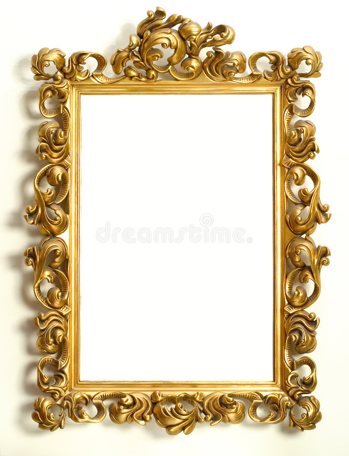 Download Gold frame stock image. Image of edge, background, frame - 3415777