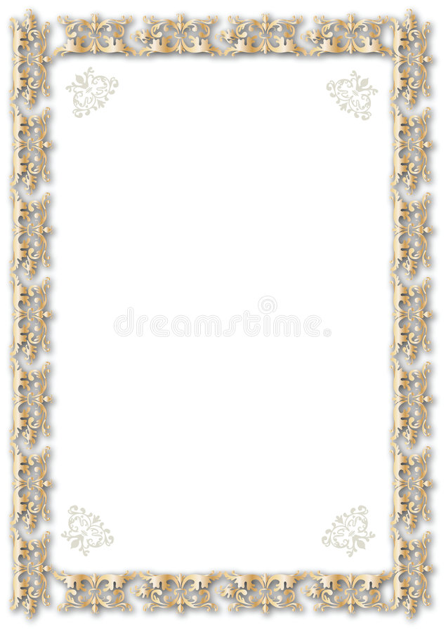Gold frame royalty free illustration