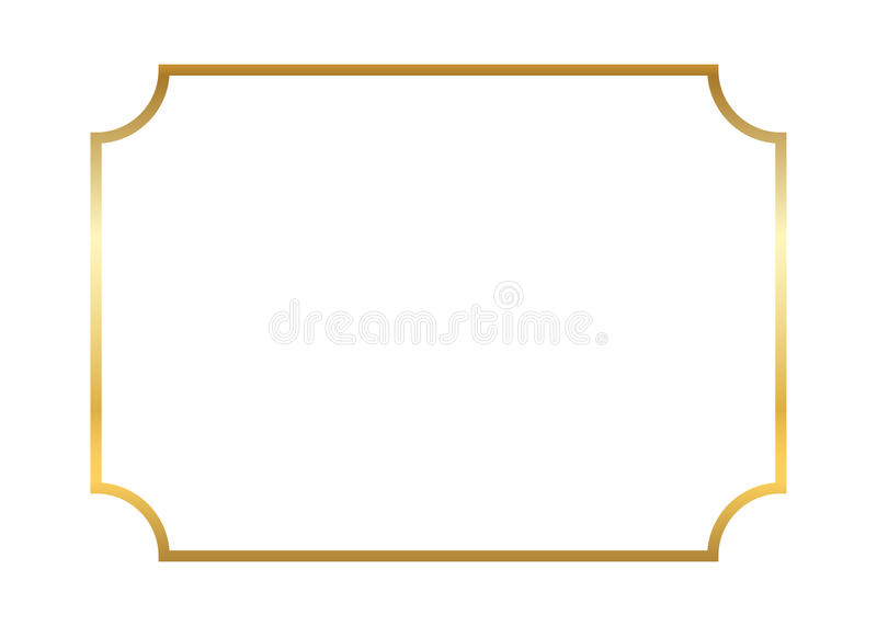 Gold frame. Beautiful simple vector illustration
