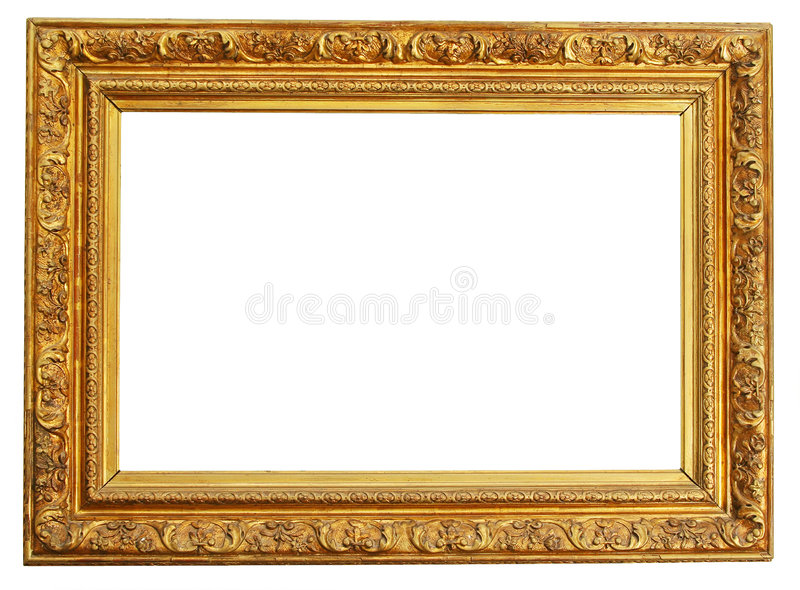 Gold frame clipping path