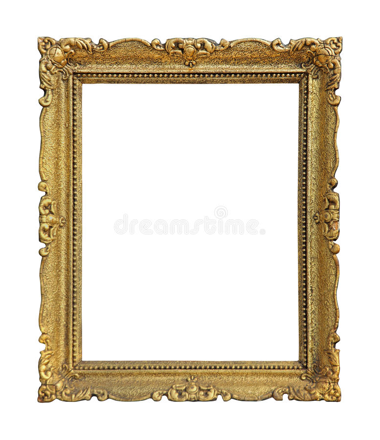Gold frame decorative stock image