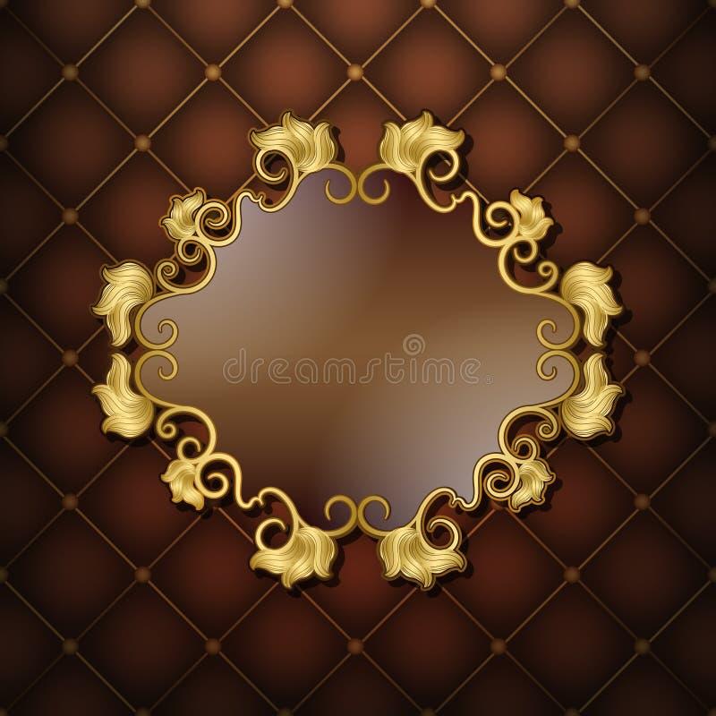 Gold frame vector illustration