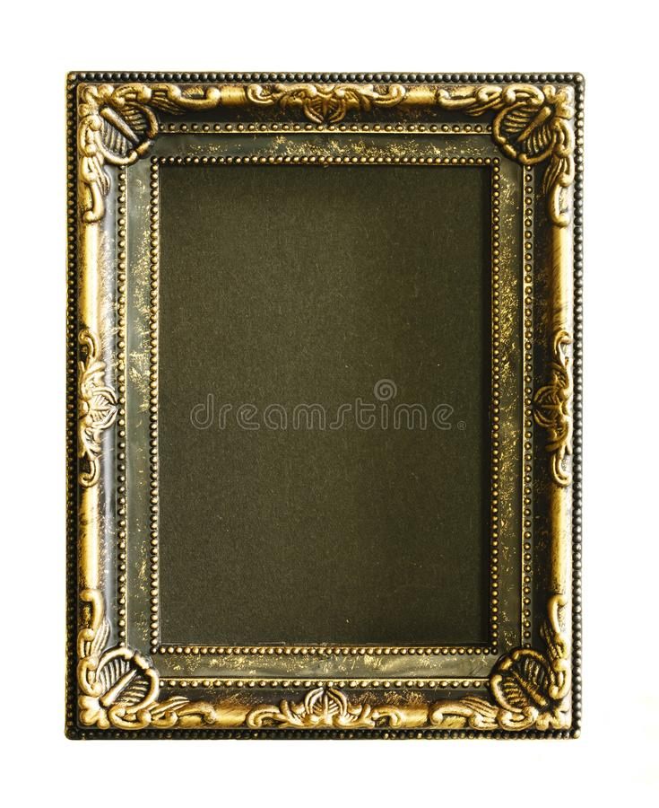 Download gold frame gold gilded arts and crafts pattern picture frame on white