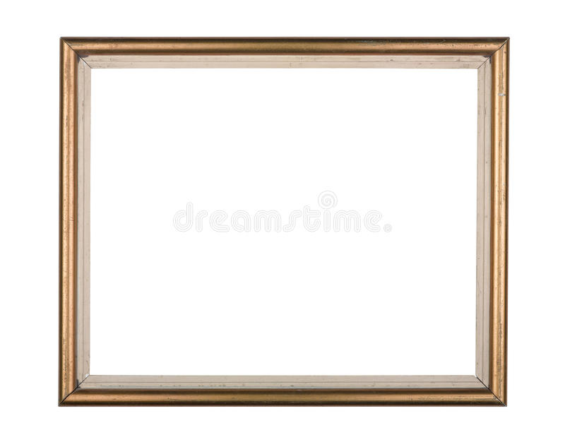 Download Gold Frame Isolated On A White Background Stock Image - Image: 22986677