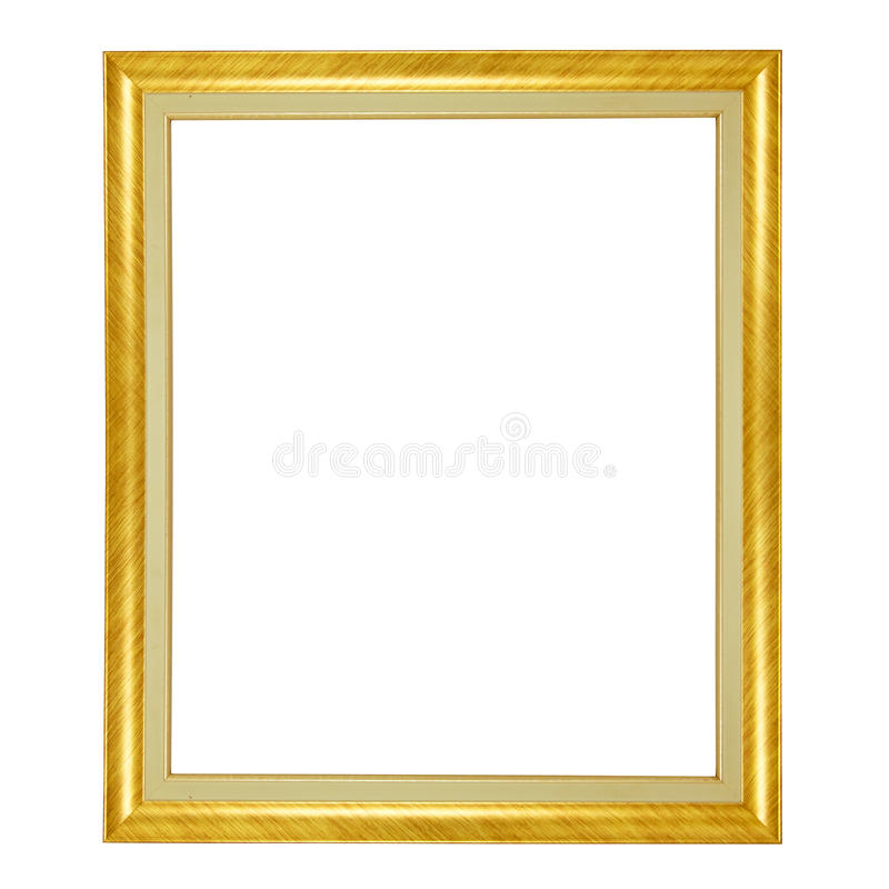 Gold frame isolated on white background royalty free stock images