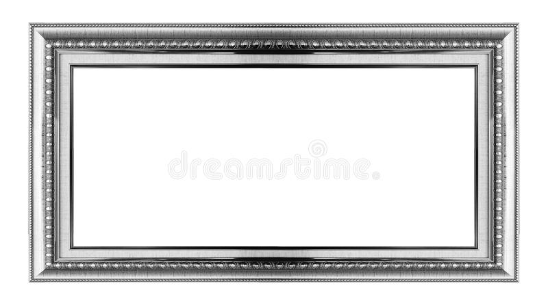 Gold frame. Isolated on white royalty free stock image