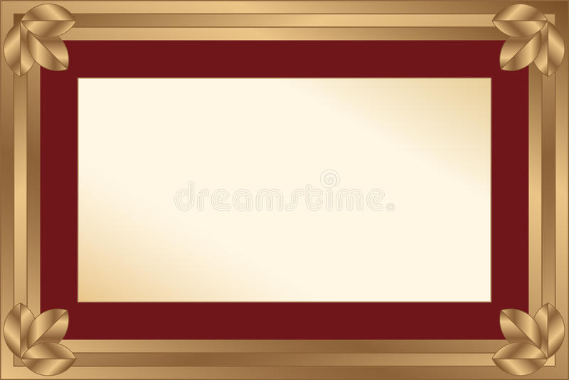 Download Gold Frame With Maroon Passport For A Photo Or A D Stock Illustration - Image: 18378919